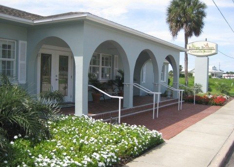 new smyrna beach funeral home banner with beach