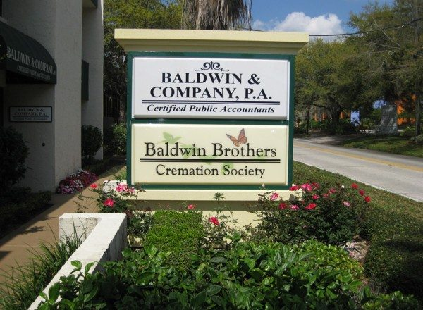 baldwin brothers winter park funeral home entrance sign