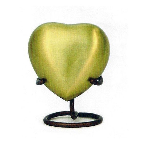 bronze heart keepsake for central florida cremation ashes
