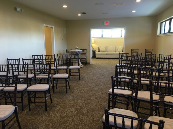 Tavares funeral home chapel area