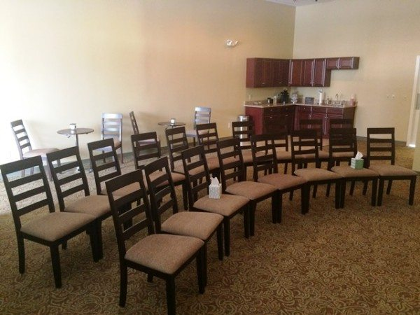 The Villages funeral home chapel area