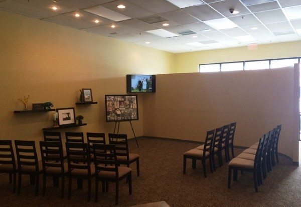 The Villages funeral home chapel front