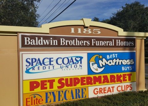 Ormond beach funeral home banner with beach
