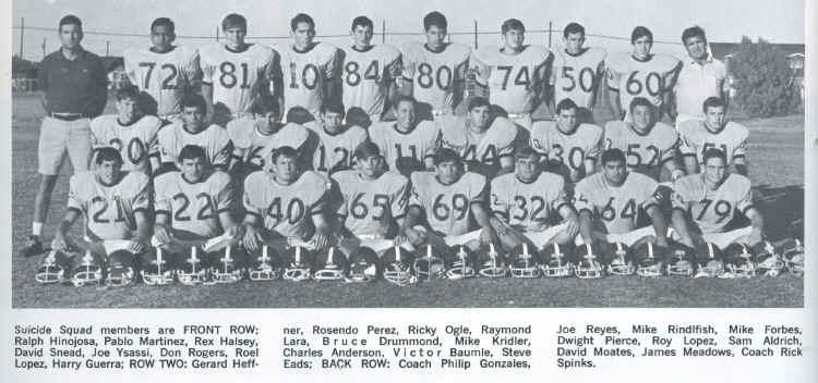 Carroll High / Corpus Christi, Tx. - JV Football 1968