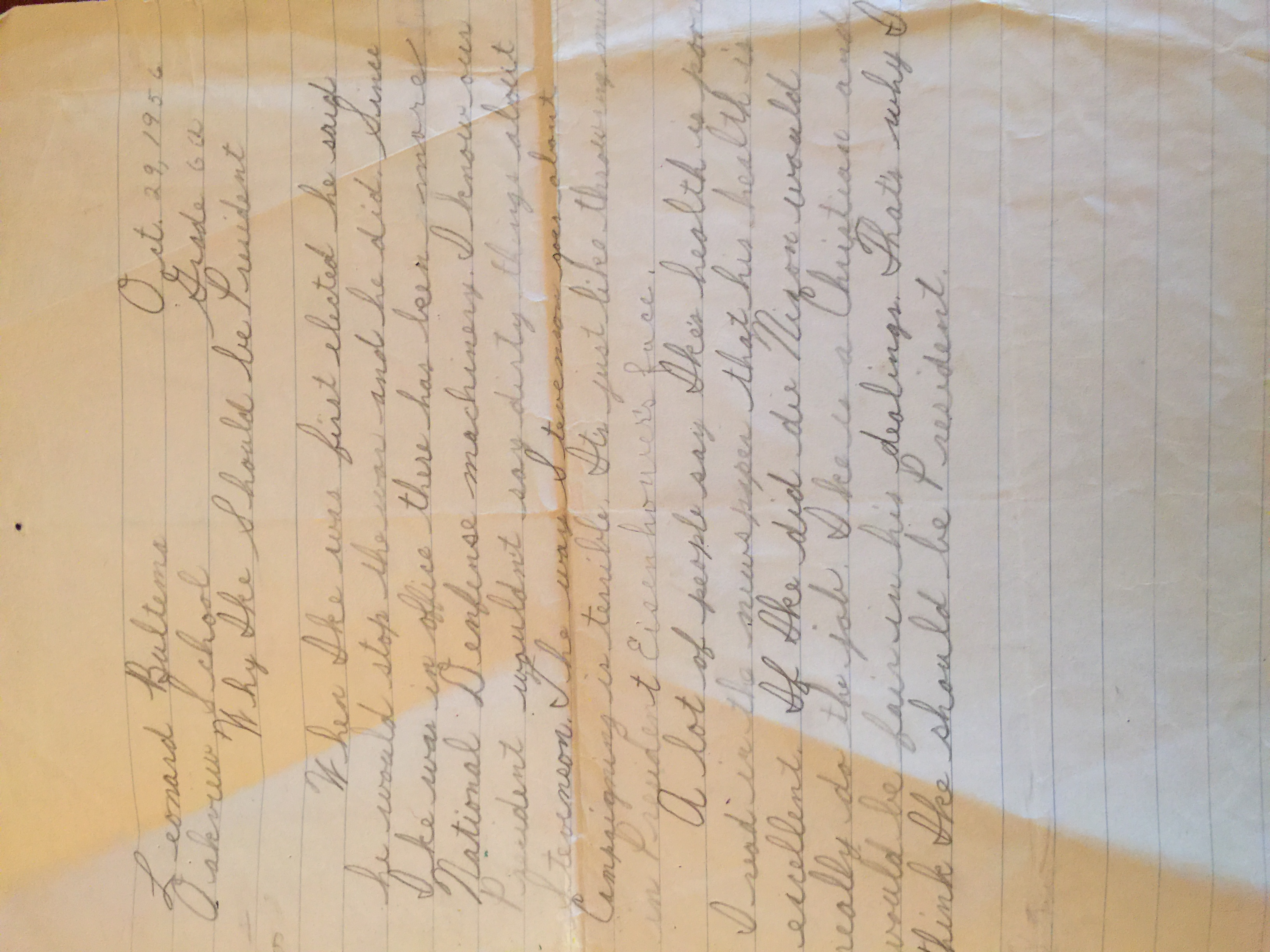While Jan was 4, Len was writing a paper on why Ike should be President