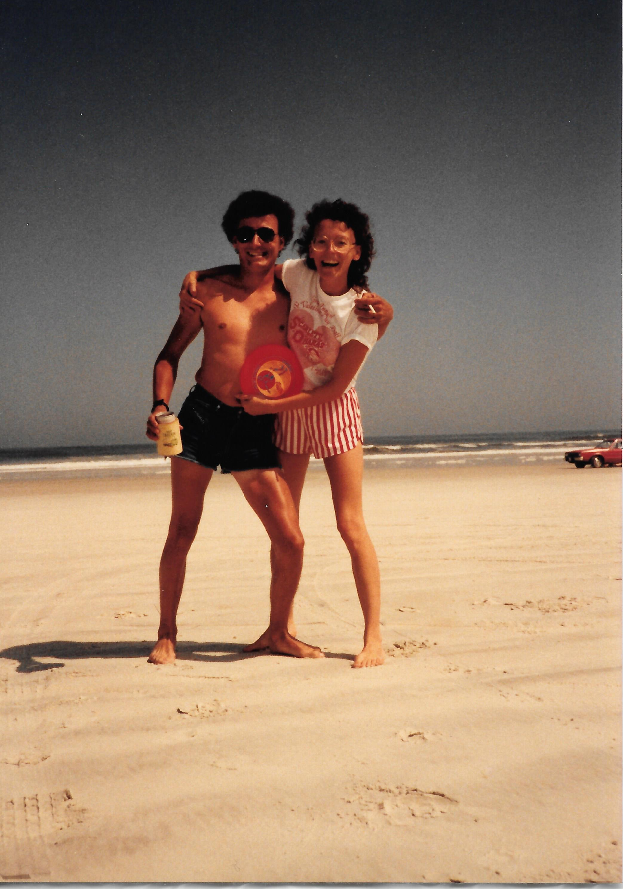 Aunt Shirley and Uncle Rick enjoying the beach.