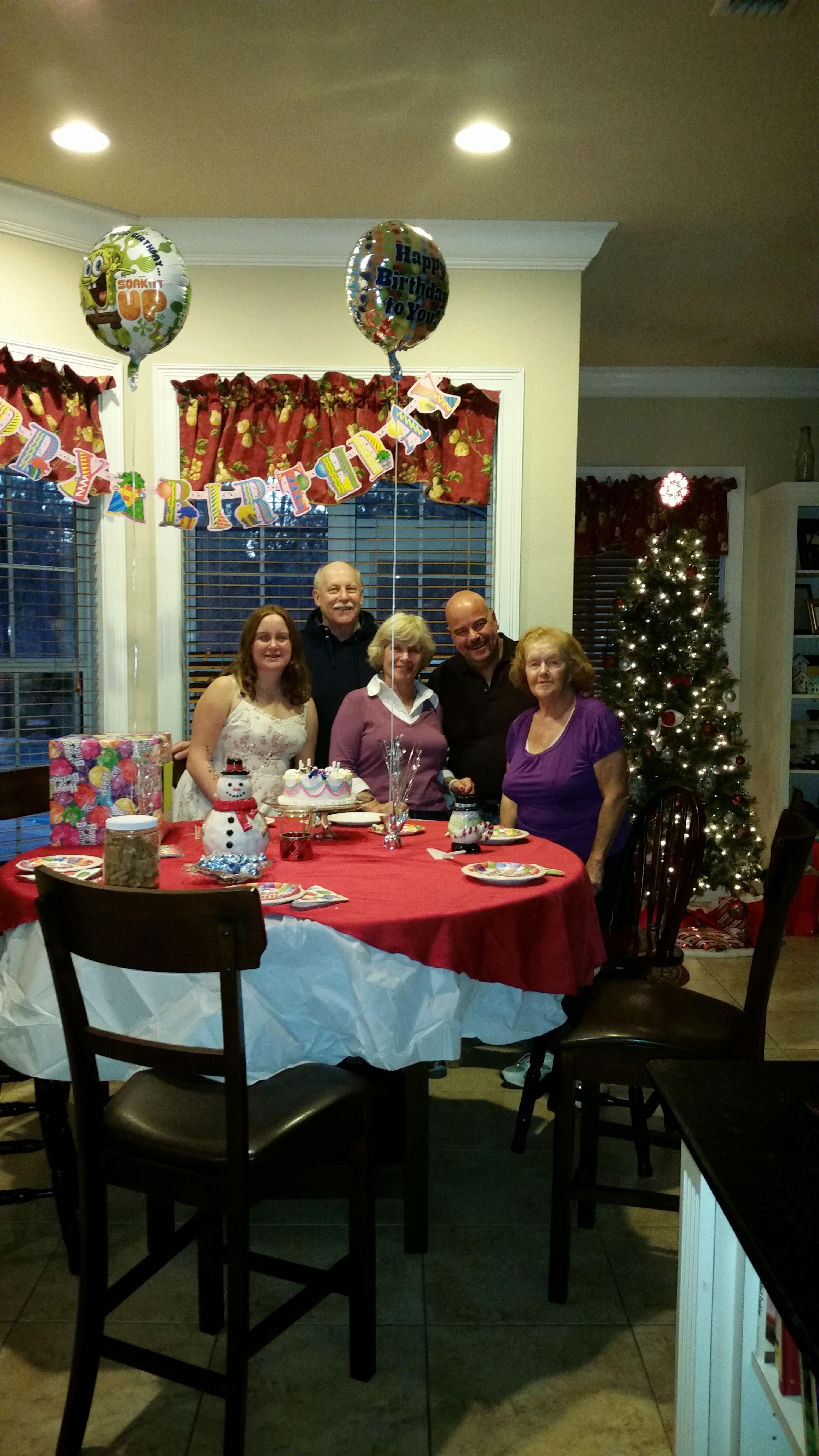 We were celebrating Carol Ann's lil sissy birthday Audrey, last year (12/14/2014).