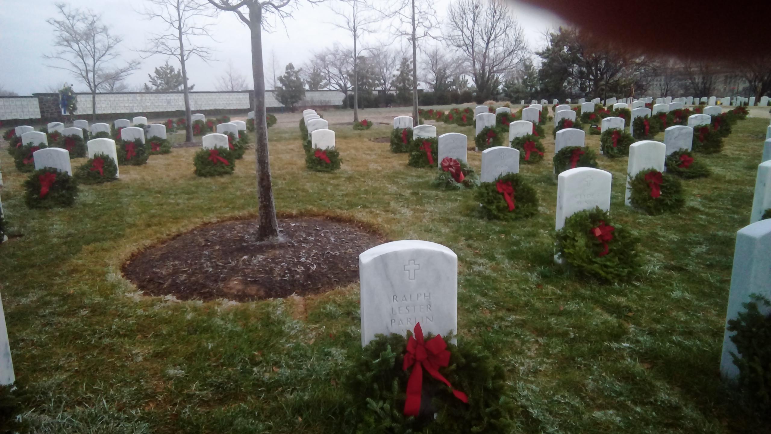 Christmas wreath at Arlington
