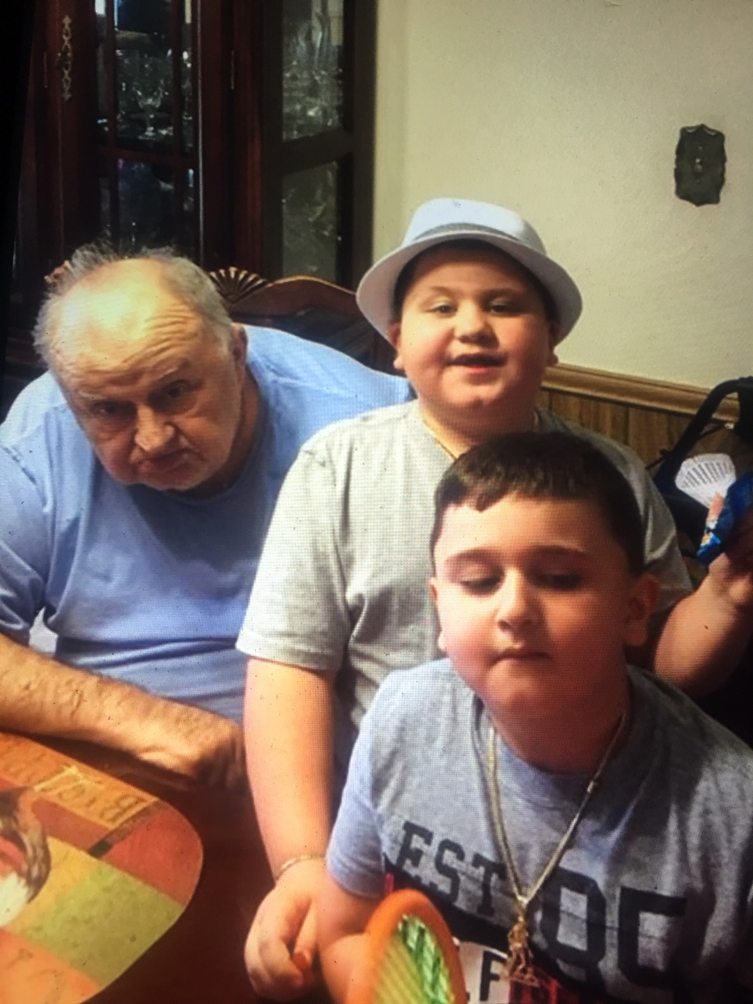 Here is dad with my boys his grandsons daddy adored them