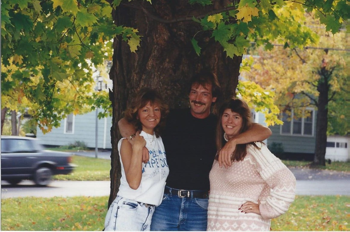 Sheila with her brother Jim and me at her home in Syracuse New York.