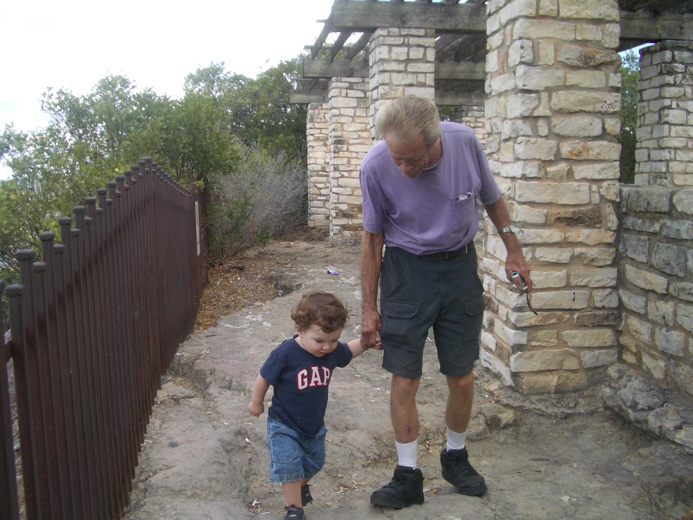 Grandpa Kevin with Luke