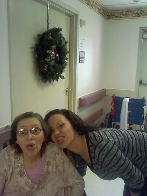 Me and Nanny Christmas 2013. Love n miss you know you're in a better place now