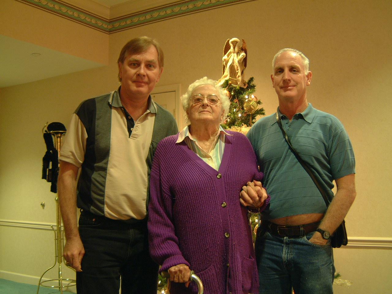 Gary and Steven Gates with our Aunt Margaret, November 2002