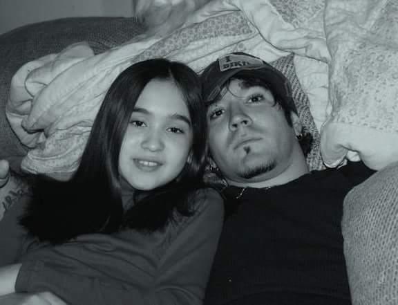 B.J and my daughter Meleena starr