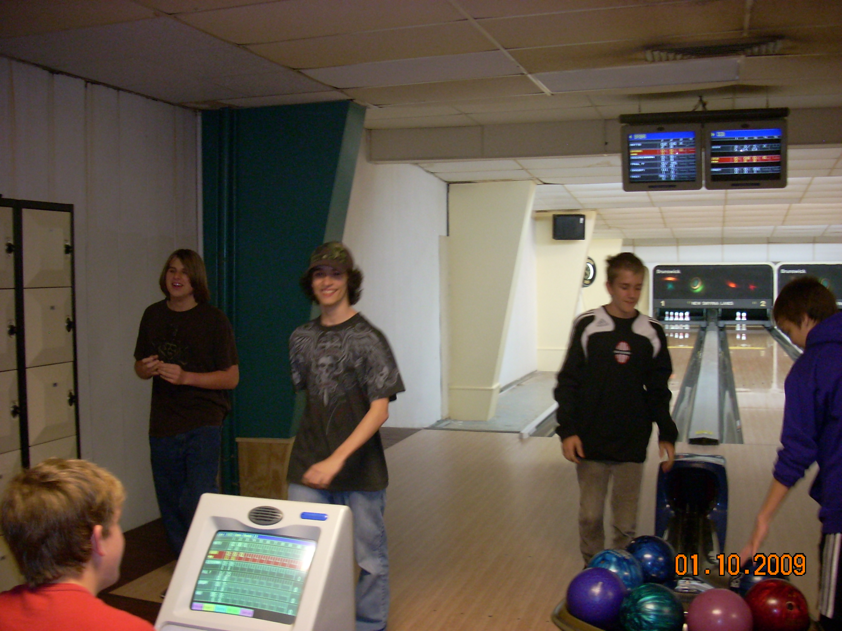 Matt and Brian having a great time at bowling alley on Matt's 15th birthday.  Rest in Peace