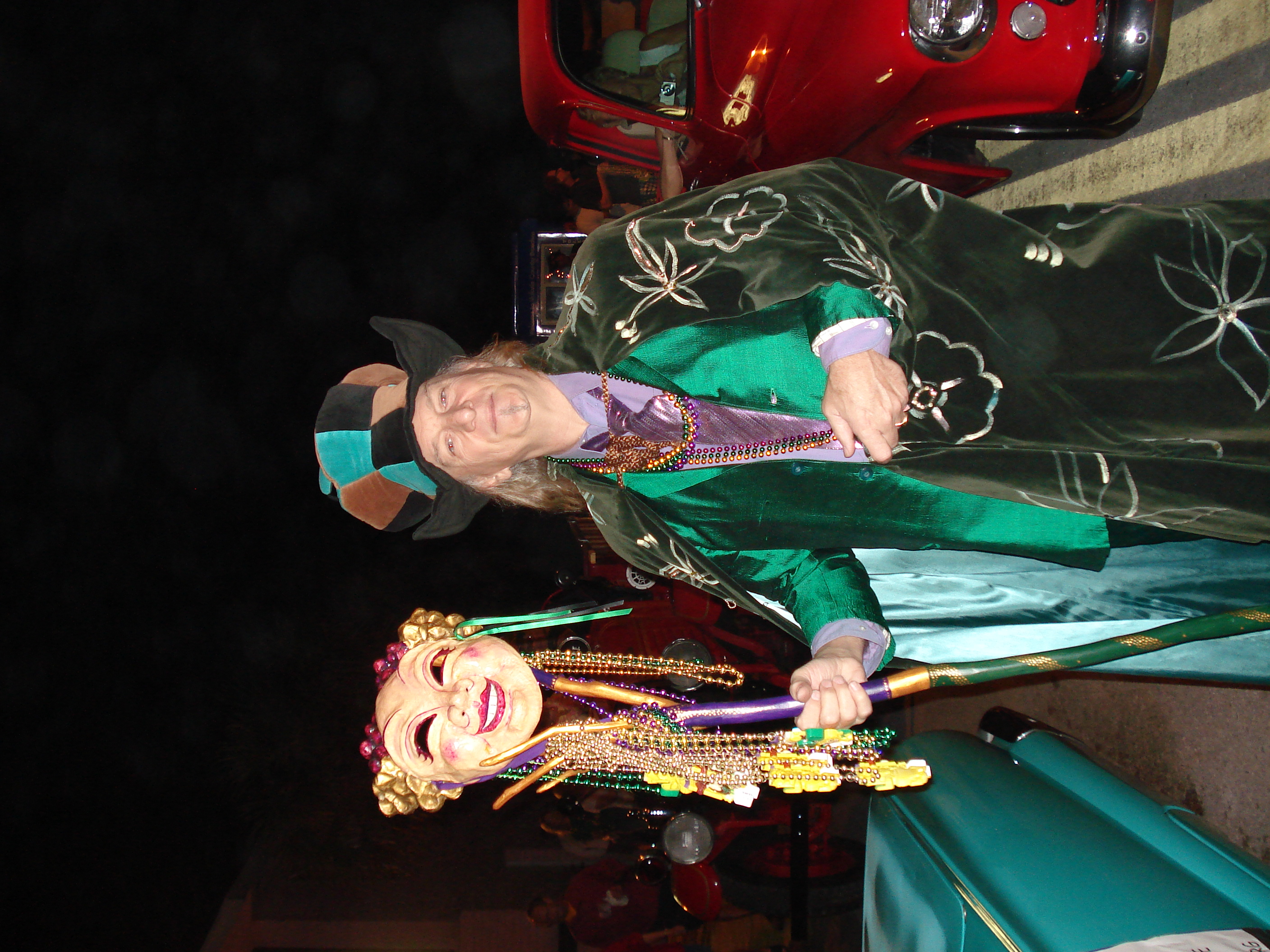 John - ready to lead the first Mardi Gras Parade (with Adele - not in this photo) in 2008. Wonderful person, great artist and musician. He will be missed.