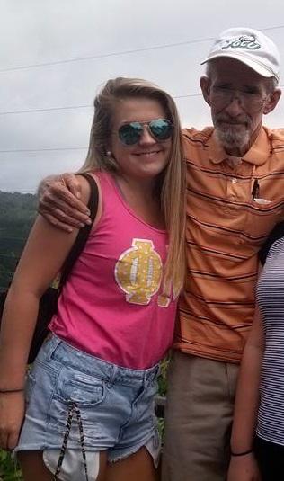Dad with eldest granddaughter Sydney Oxley
