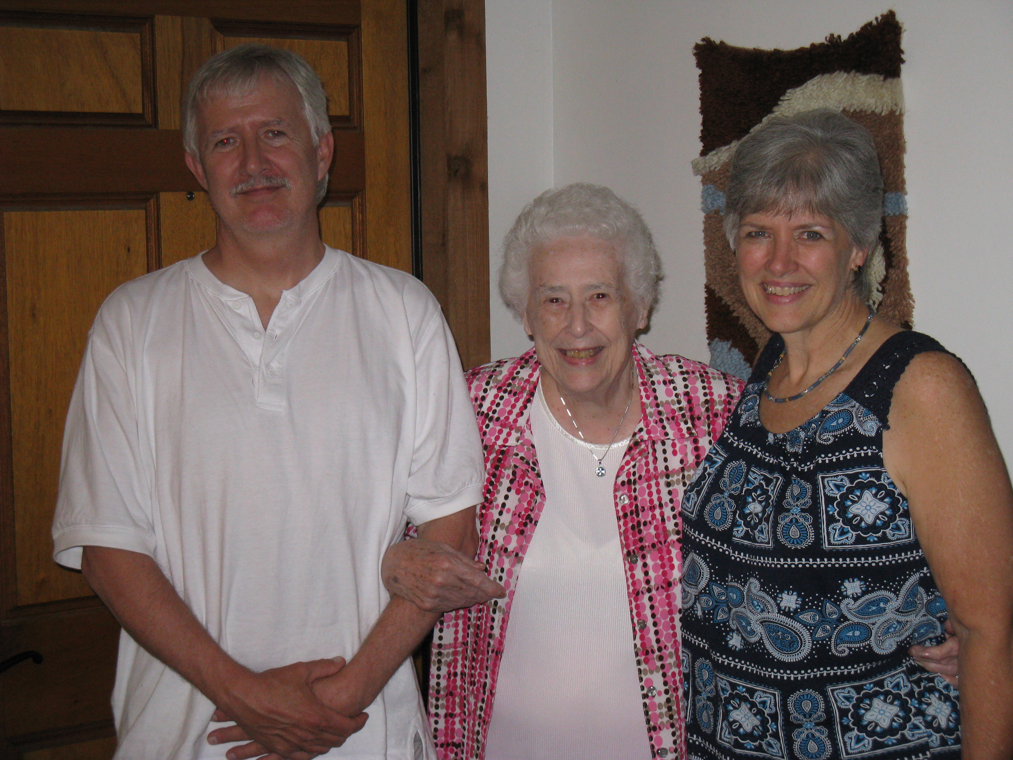 Lois and her children, Mark and Janet.