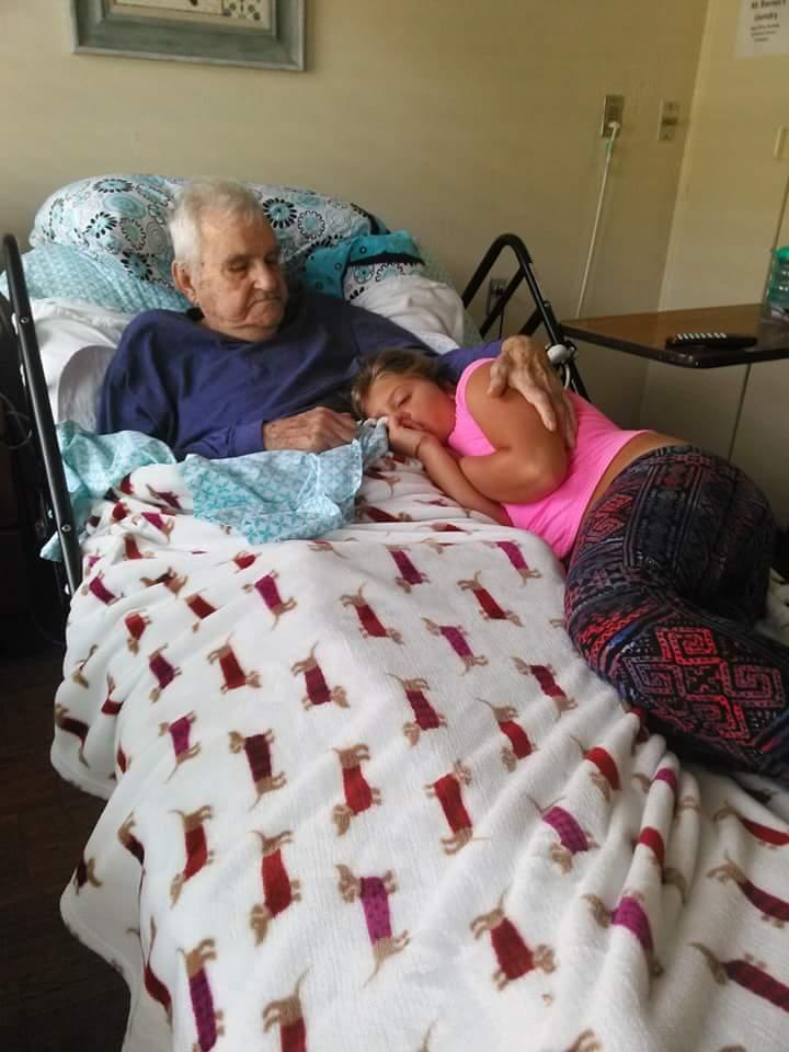 Papa with his favorite great grandchild, payton