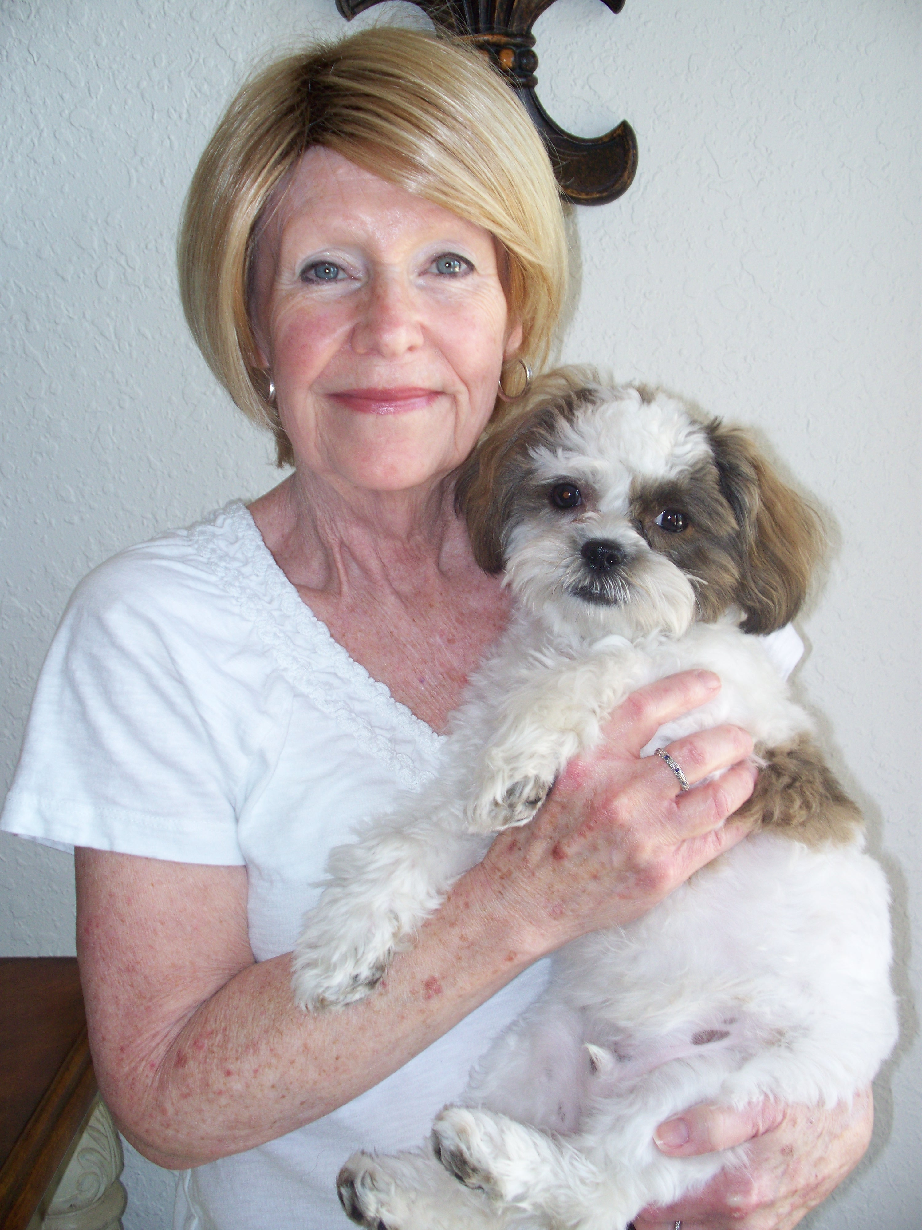 Sharon and her Ollie. He was with us in the hospice at the end. She loved the little guy. He brought her great joy.