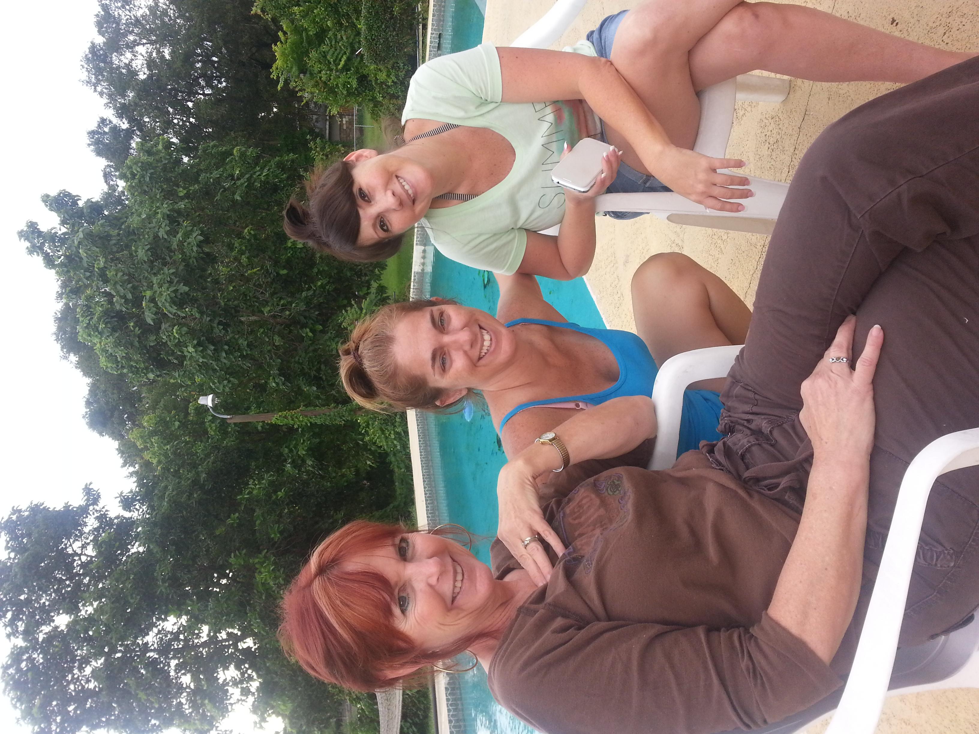 Ms. Rosie & Wendy celebrating Kim's 43rd Birthday.
