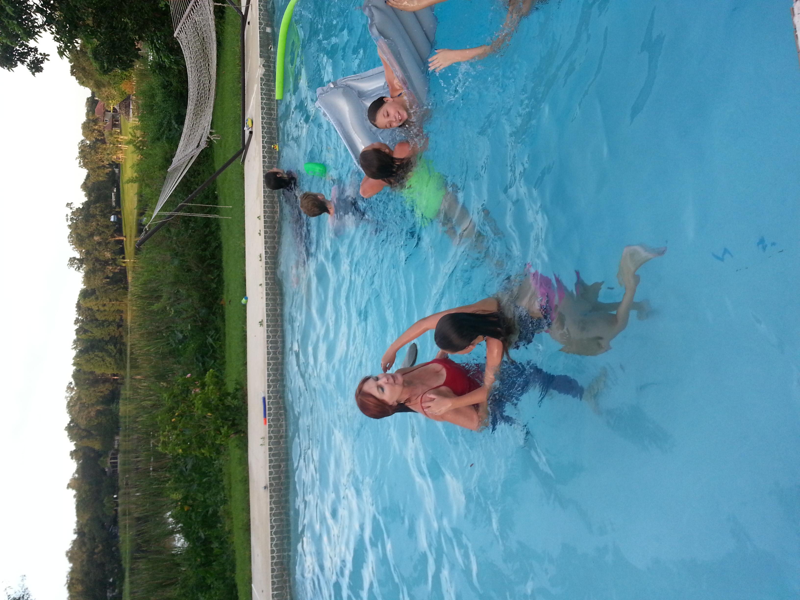 Fun time in the pool.