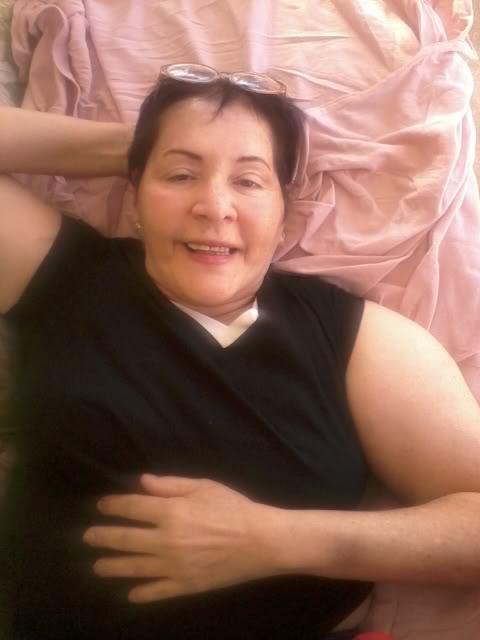 Carmen having a relaxing day