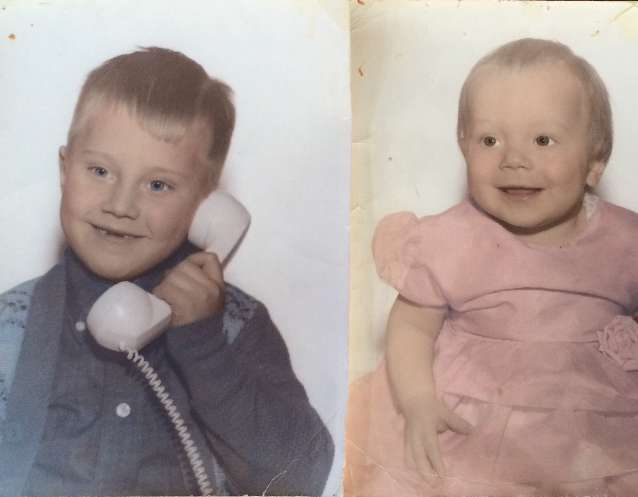 My brother and I over 54 years ago. Sweet memories!