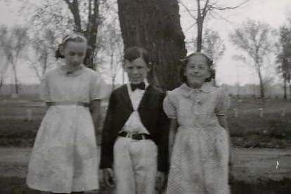 Doris, Brother Norm and sister Jeannette