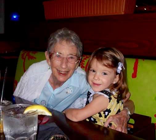 Doris & great-granddaughter Addison