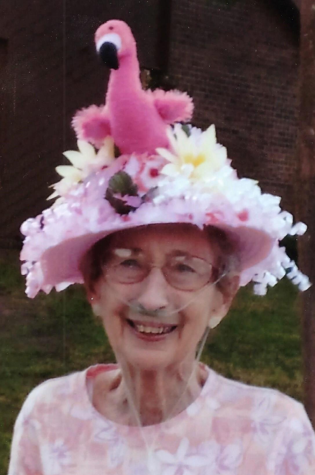 """Doris in her """"Easter Hat"""""""