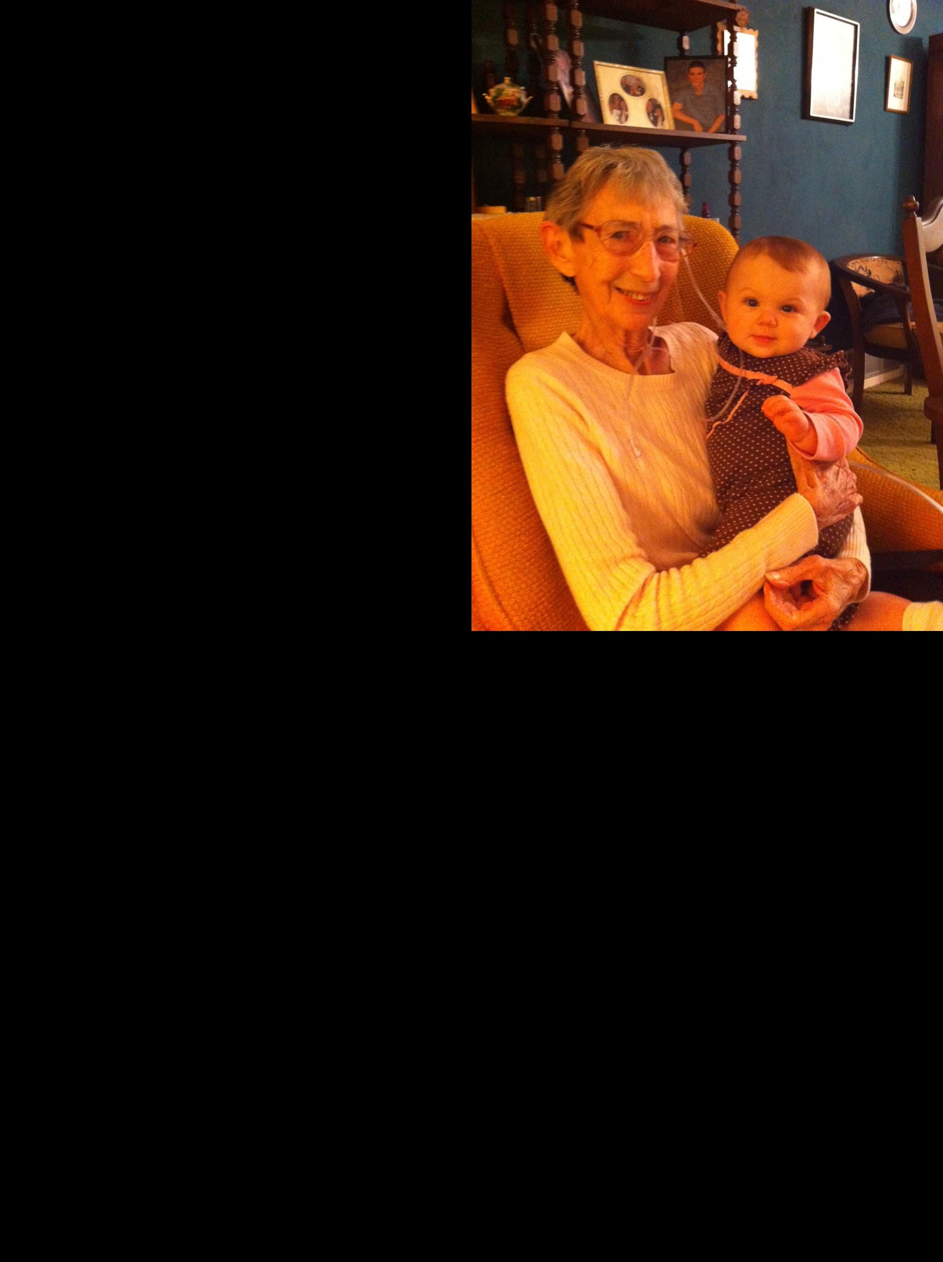 Doris with great-granddaughter Savannah