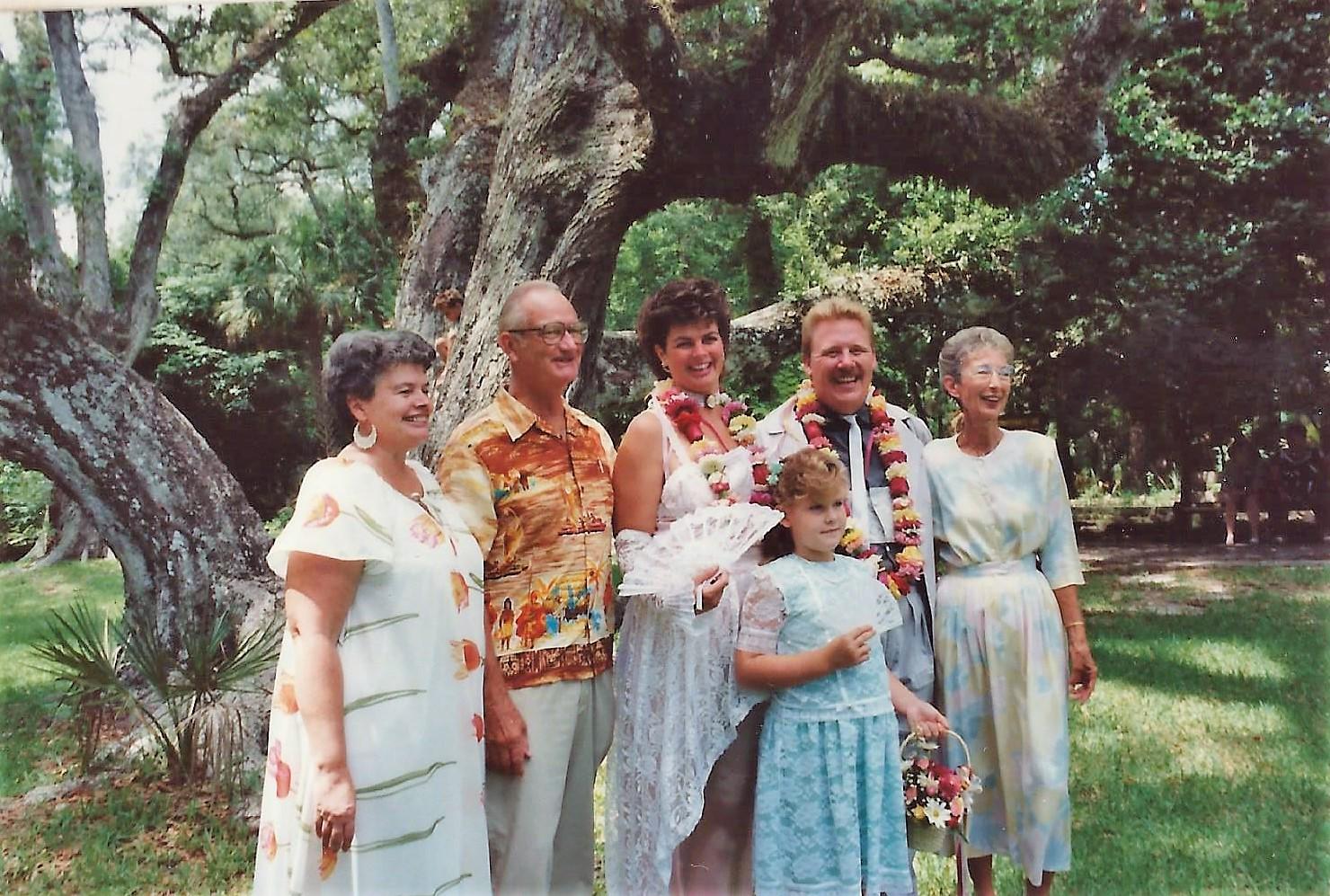 Kevin & Linda' Wedding with Moms, Dad & Ashley