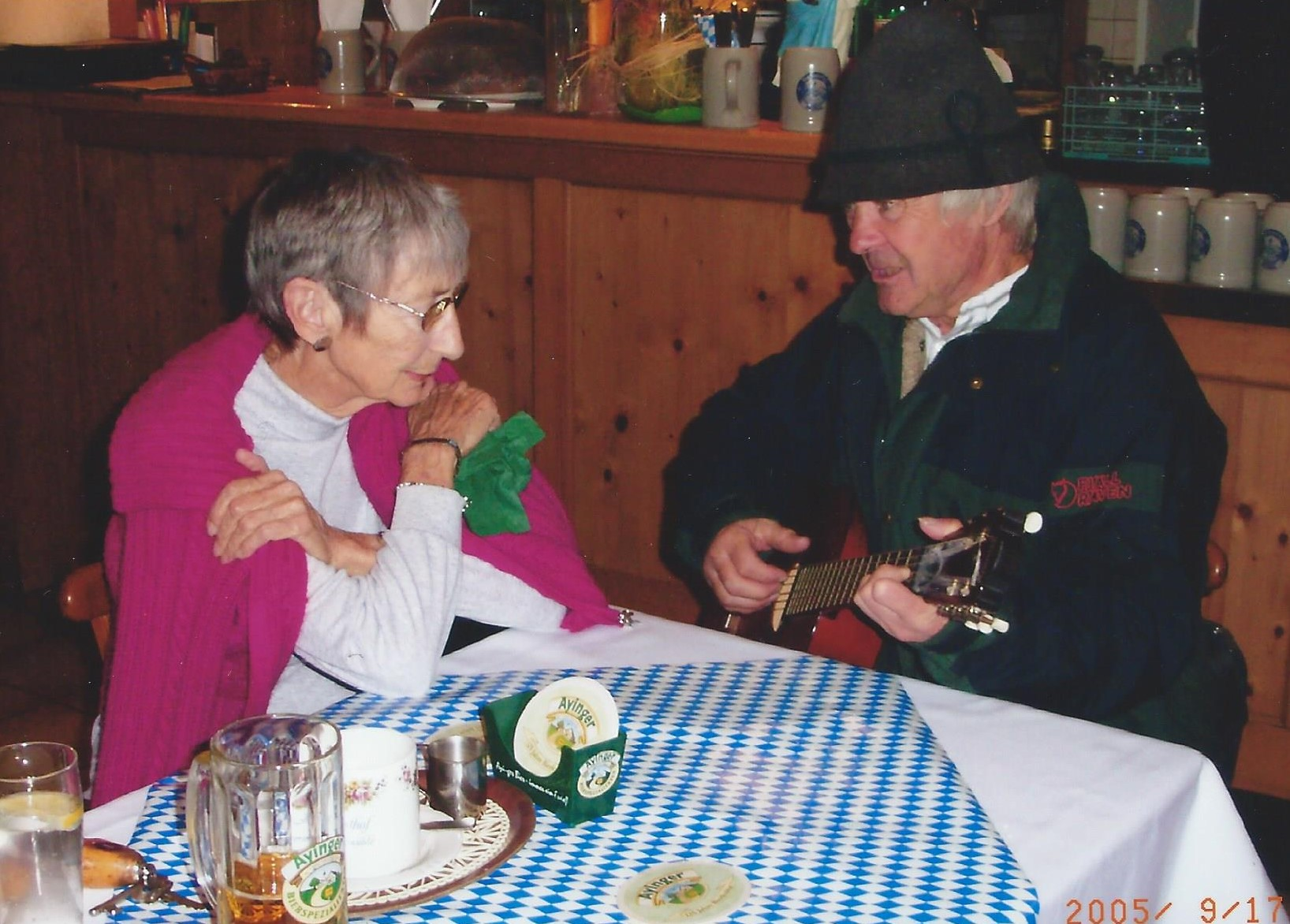 Being serenaded by a German suitor