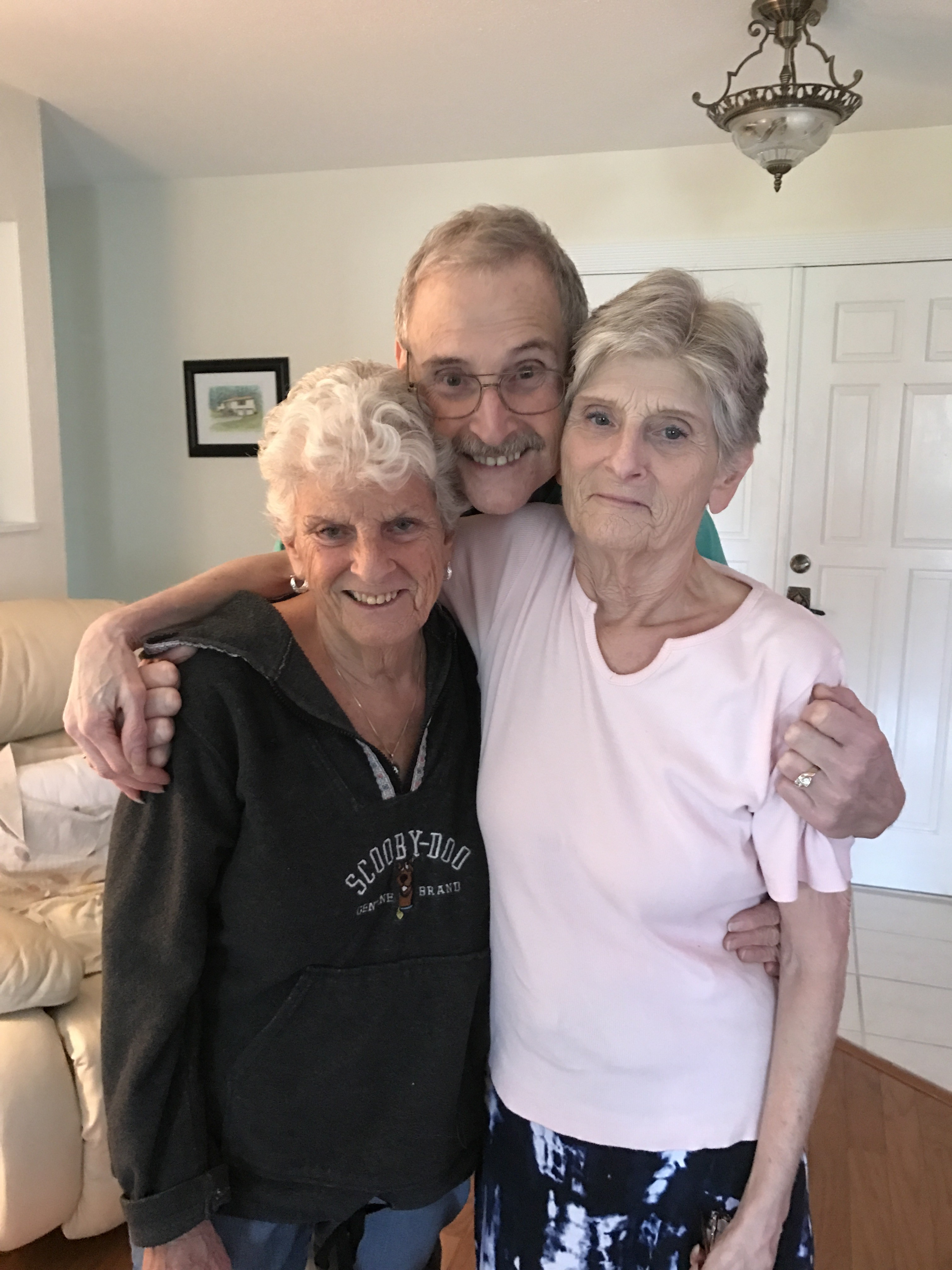 Paula with her sister and brother. They were there to support Paula and Marty in the final months of her life