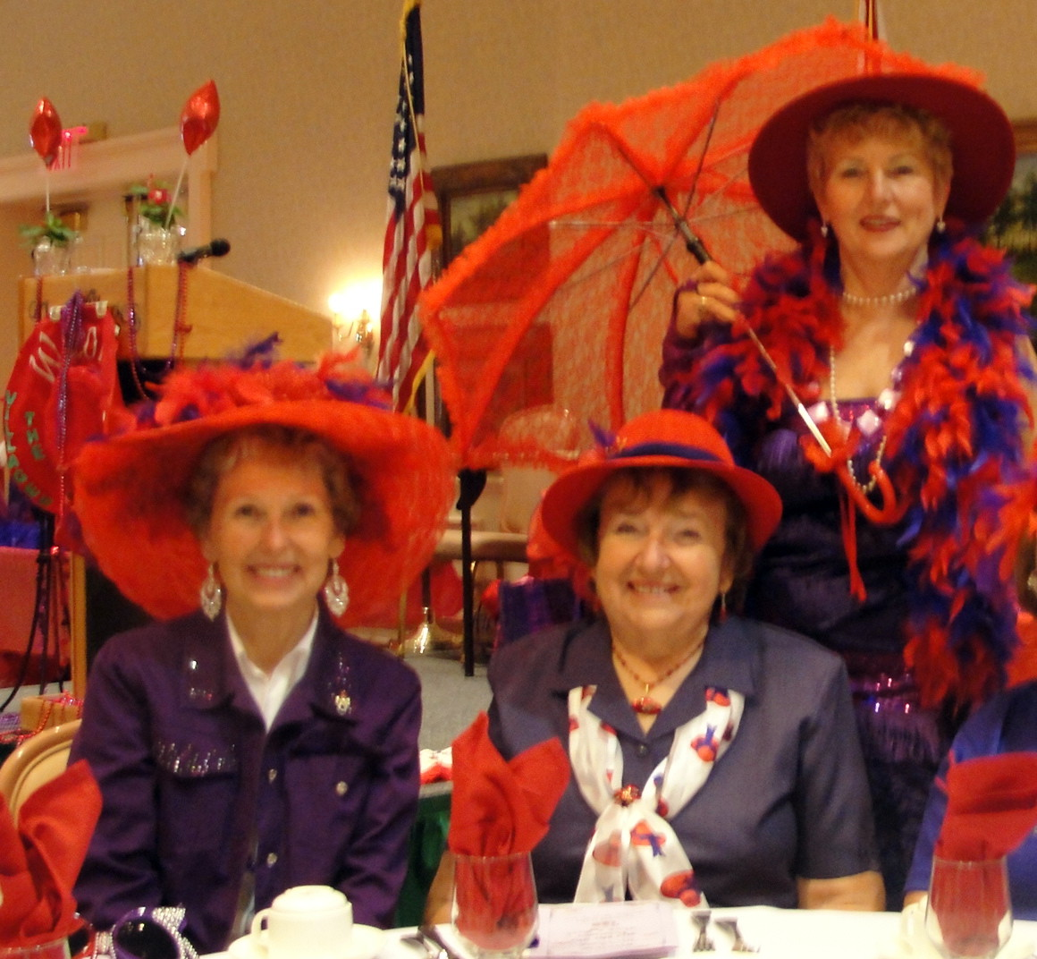 Ruthie, Diane & Jean at a Red Hat Luncheon.<br /> Ruthie was a much loved friend and neighbor.<br /> We will miss her.