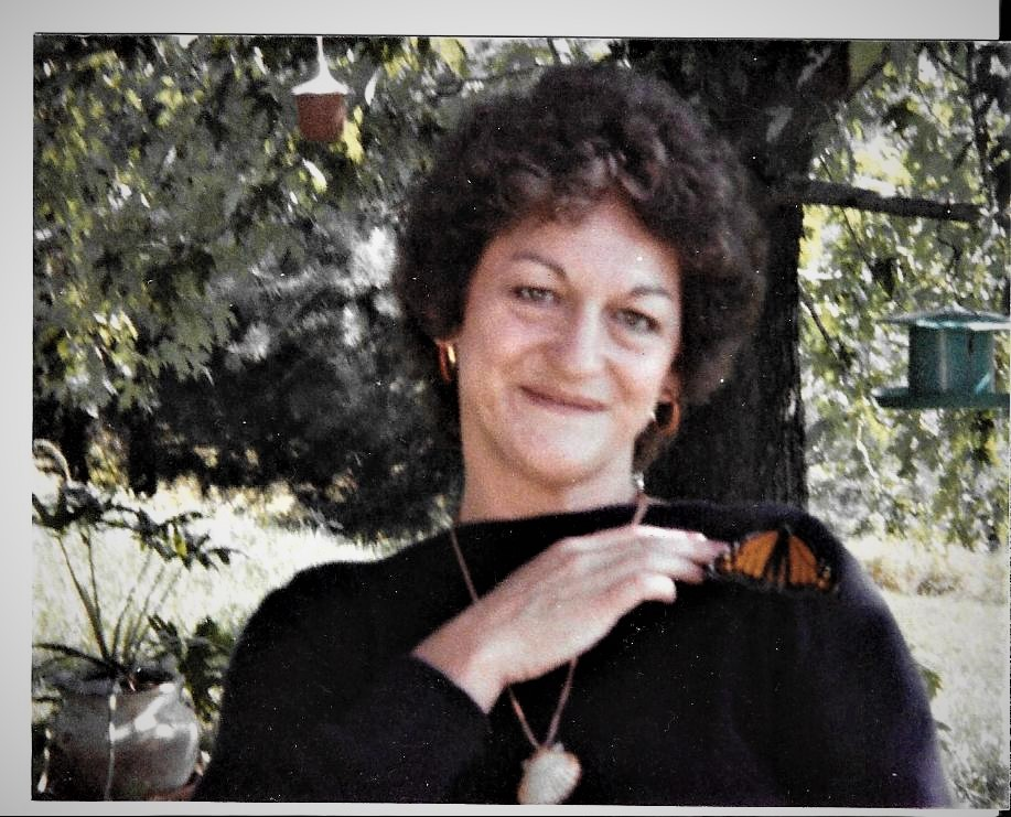 Dorothy raised monarch butterflies for a period in the 80's. Loved this pic.