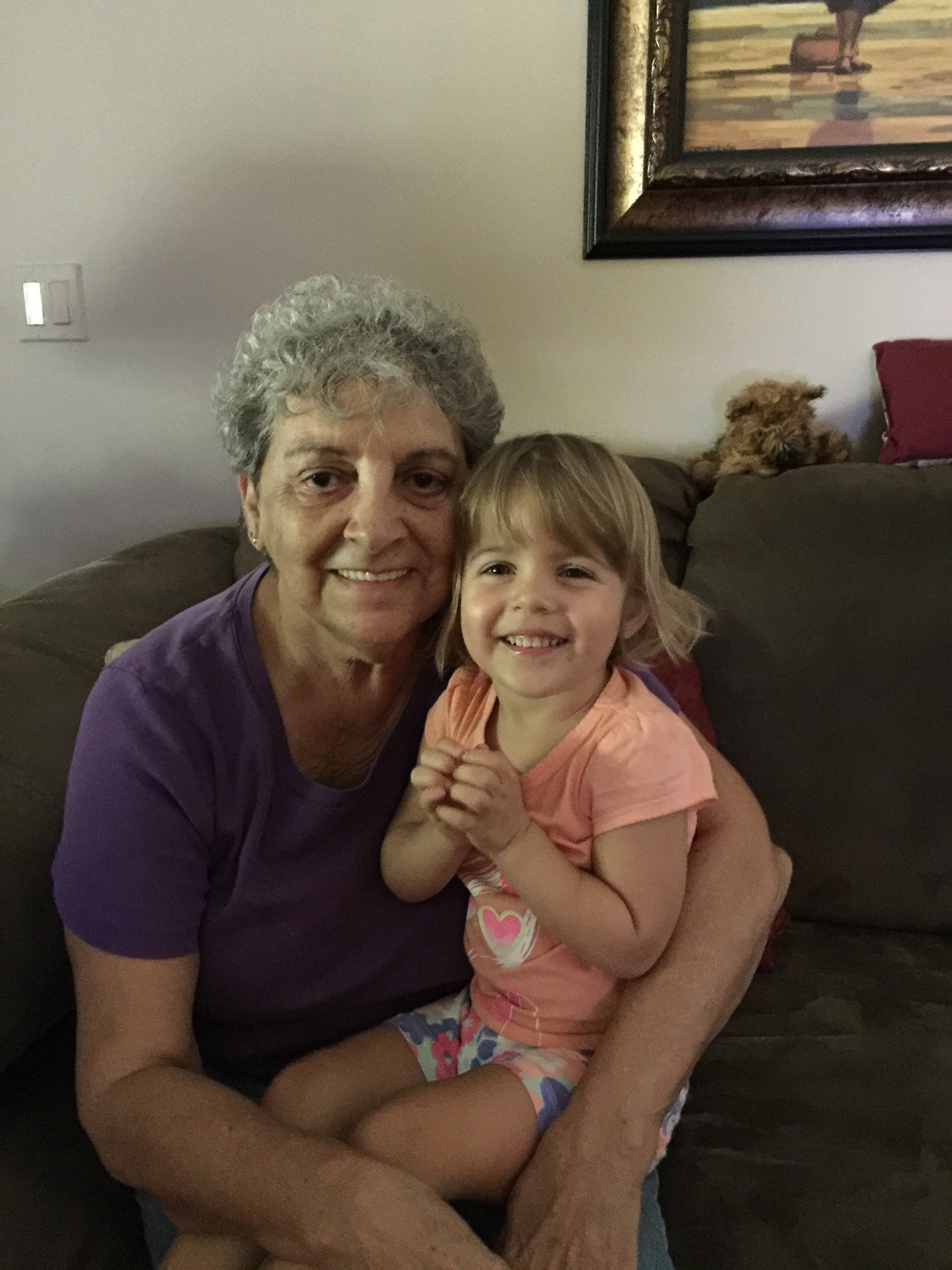 Jean with her first great grandchild.