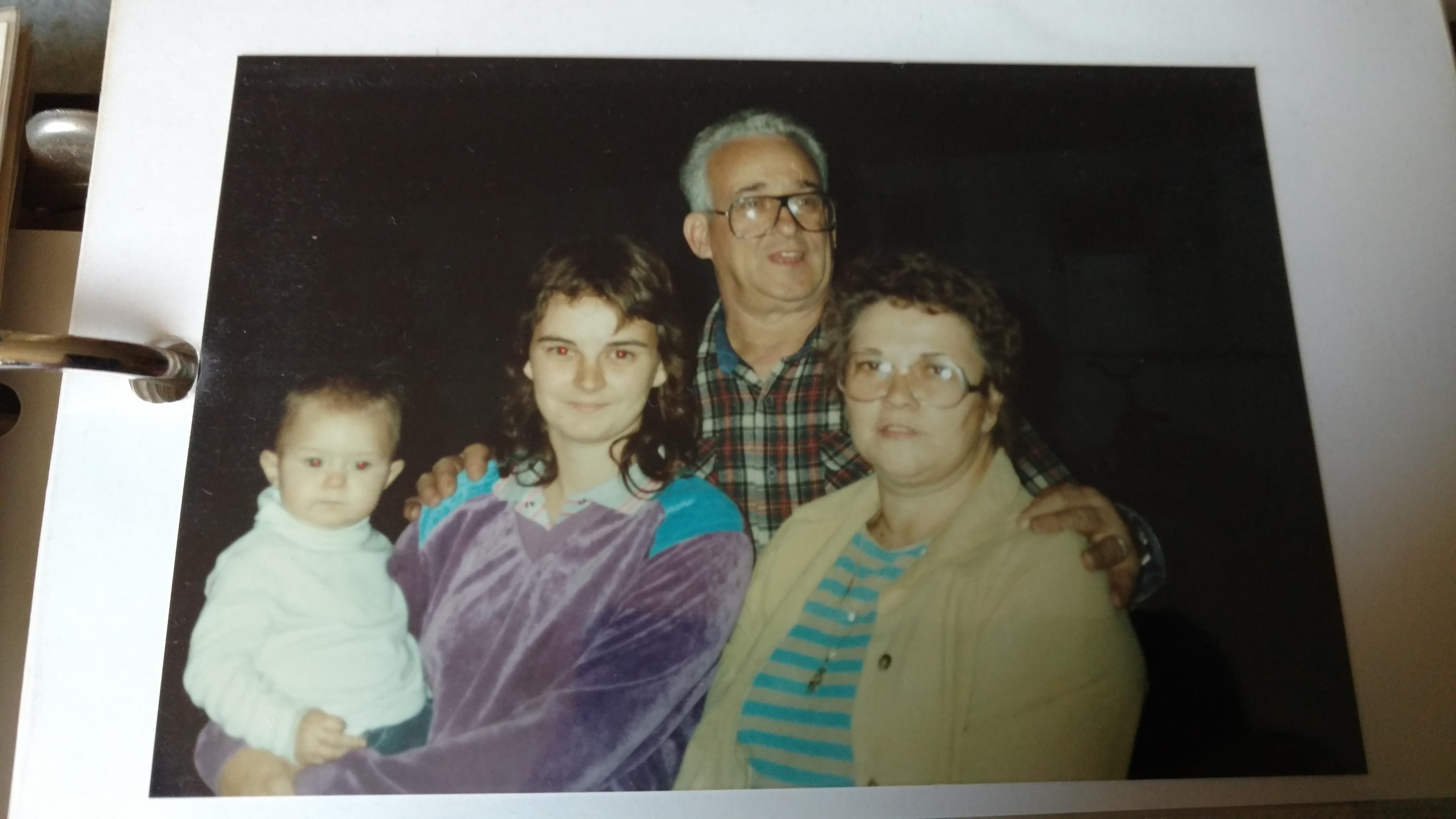 Me (Lauren), my mom, Grandpa Ed, and Grandma Bobbie.