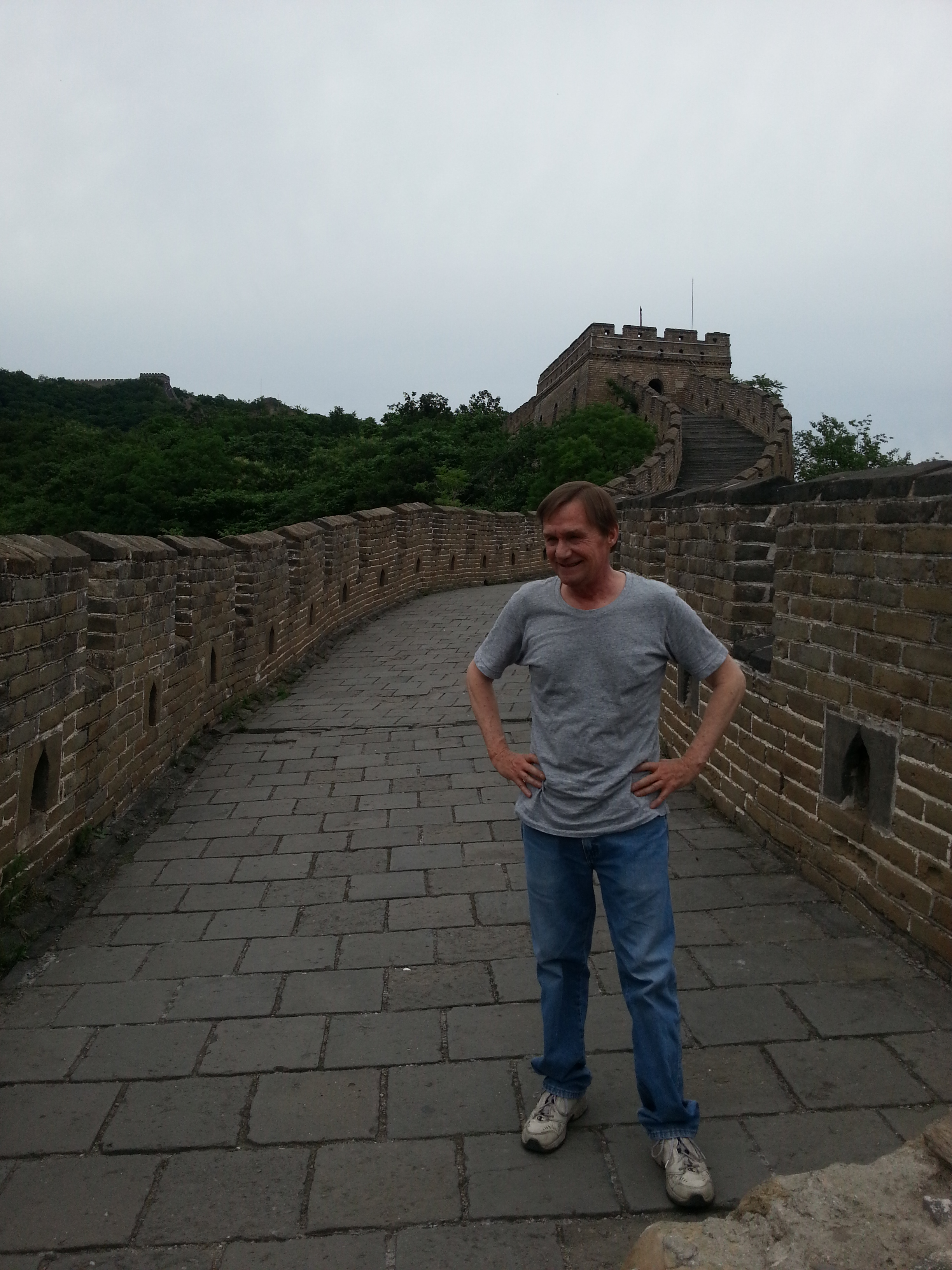 Denis at the Great Wall