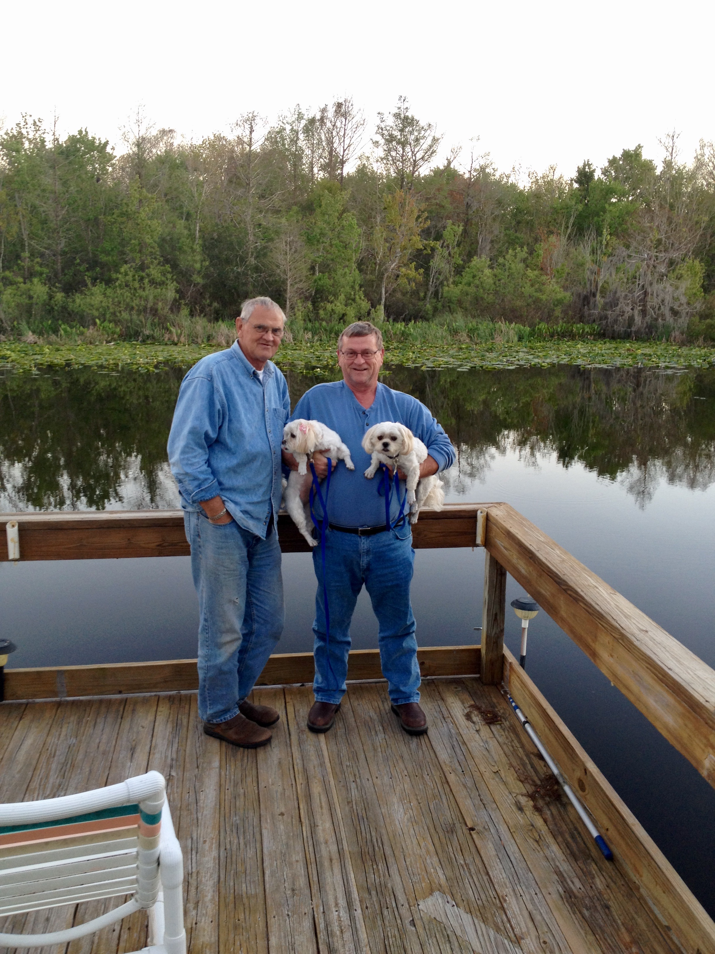 Joe and I enjoyed trying  trying to catch fish  off this dock  while Lori and  Pat watched and laughed at us. We have enjoyed many good times Joe but those times are nothing compared to the times we will have when we meet with next time. We love you buddy.