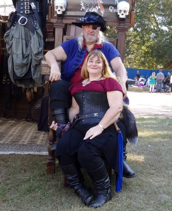 Our last picture together December 3, 2016. Orlando Inaugural Renaissance Faire.  Love you always My Pirate.