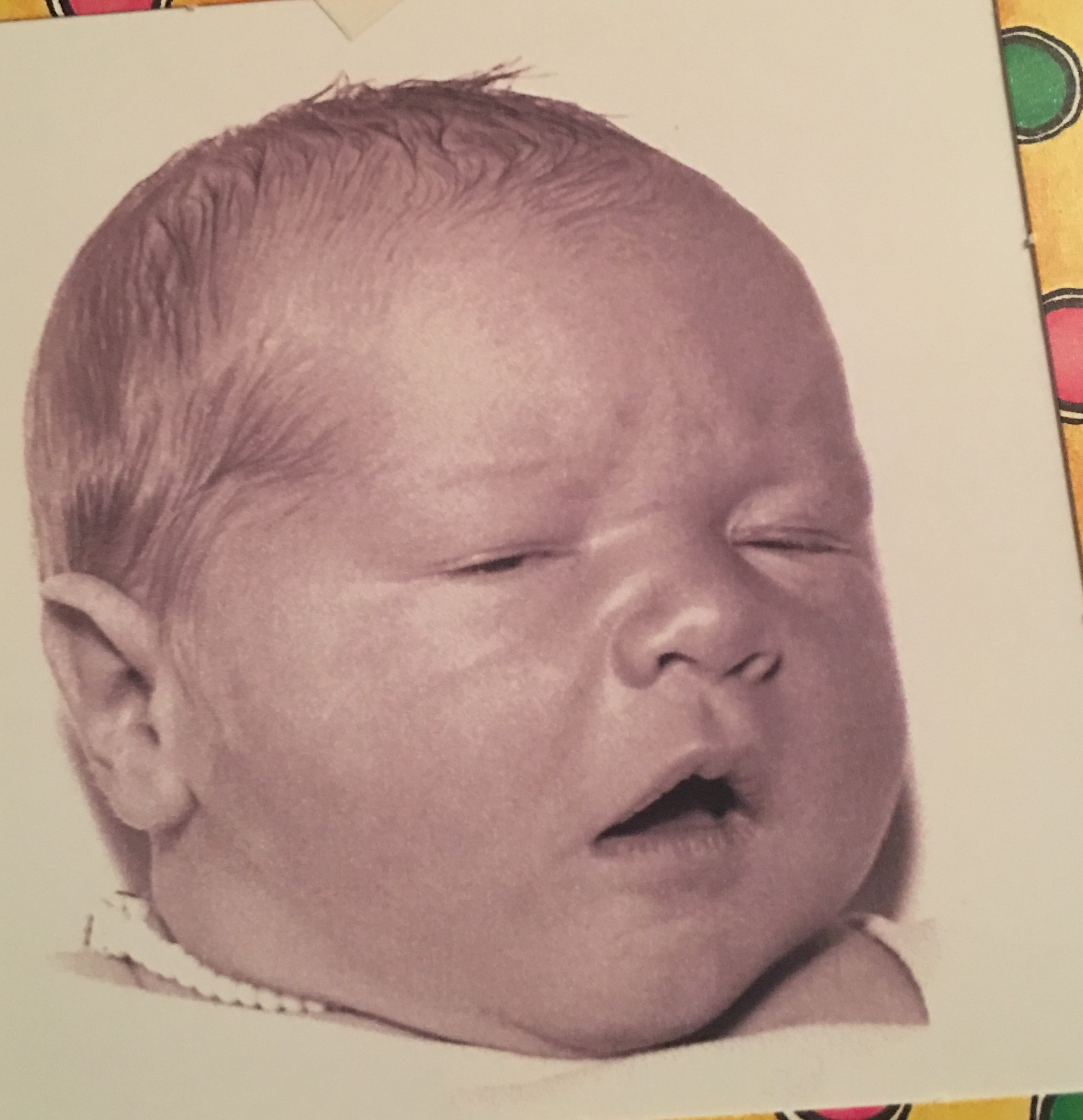 Tony's newborn picture <br />