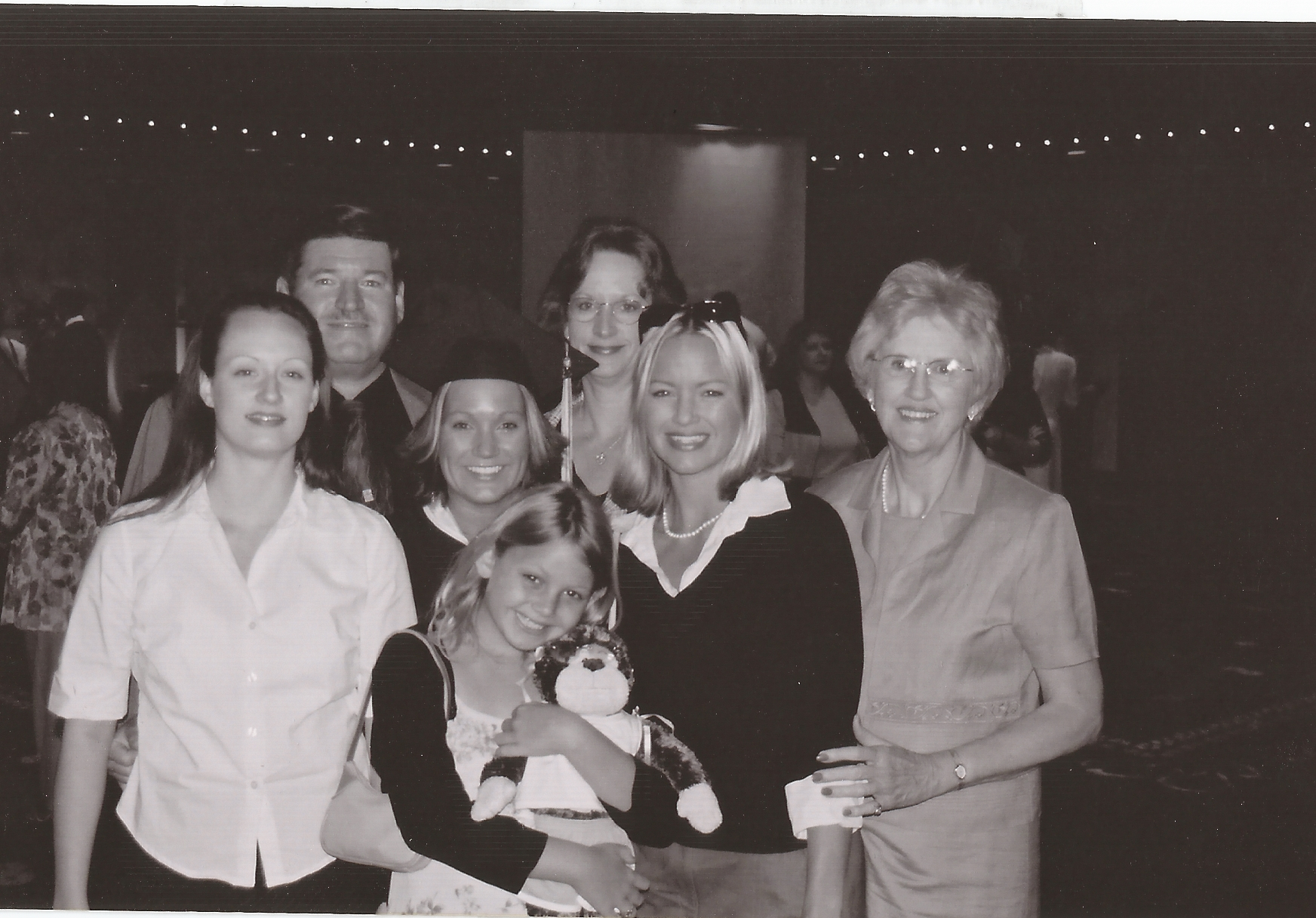 The Johnston family with Mom.