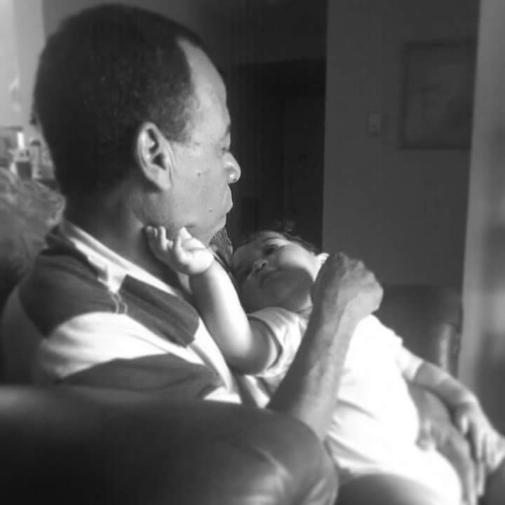 Precious moments with his great grandson