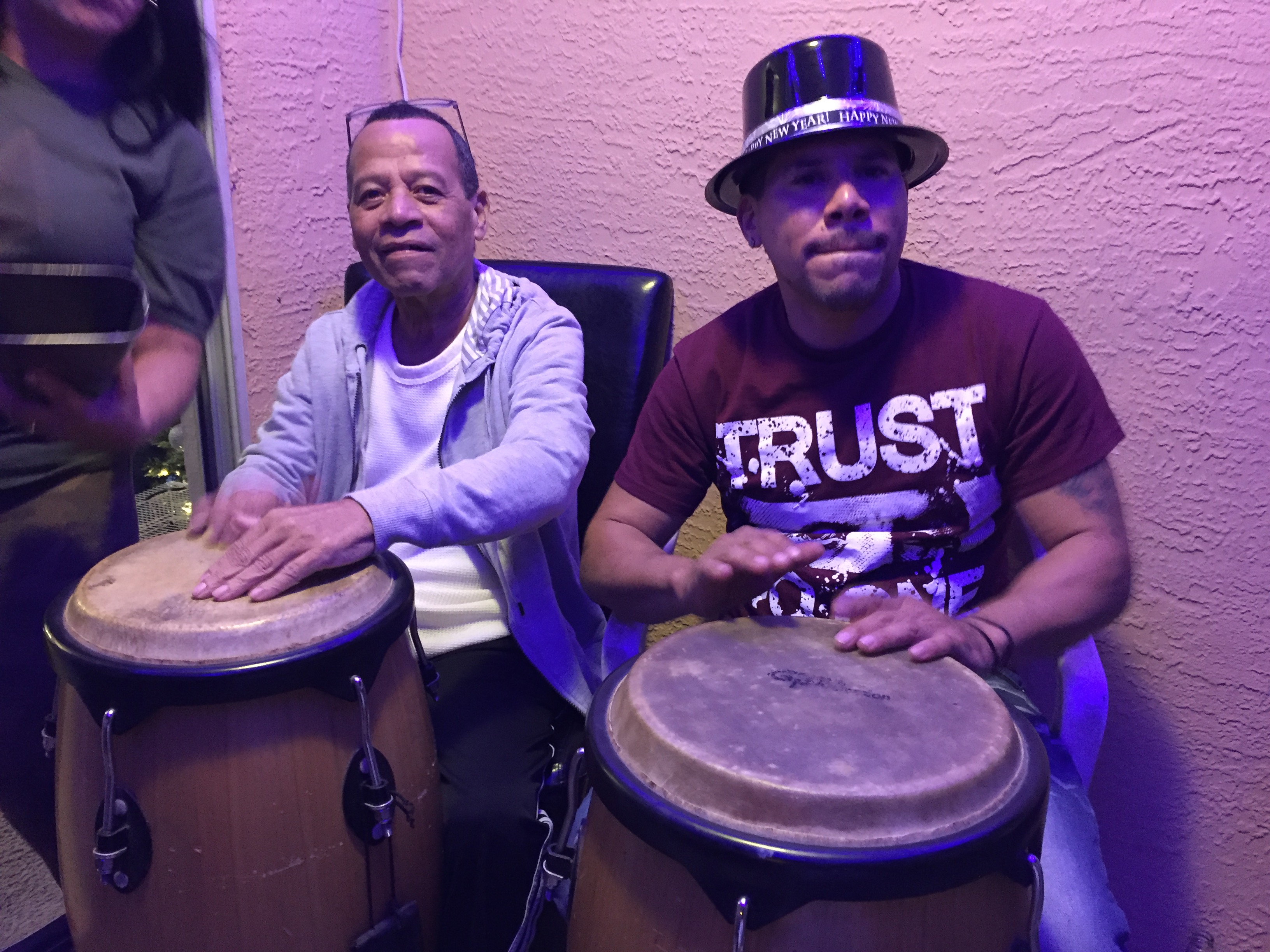 Playing the congas with my dad... love you papi with all my heart, I'll miss you