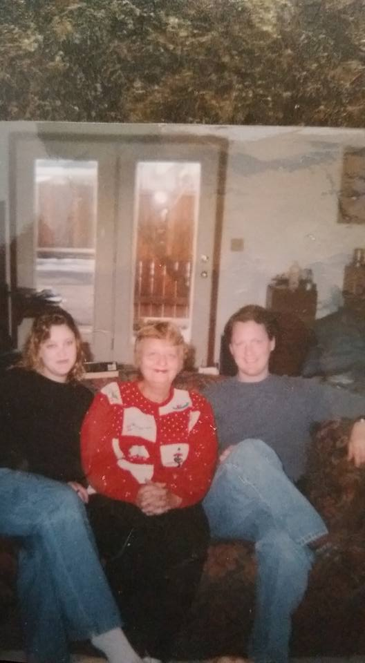Ellen with Jim and Susan in December 2002.