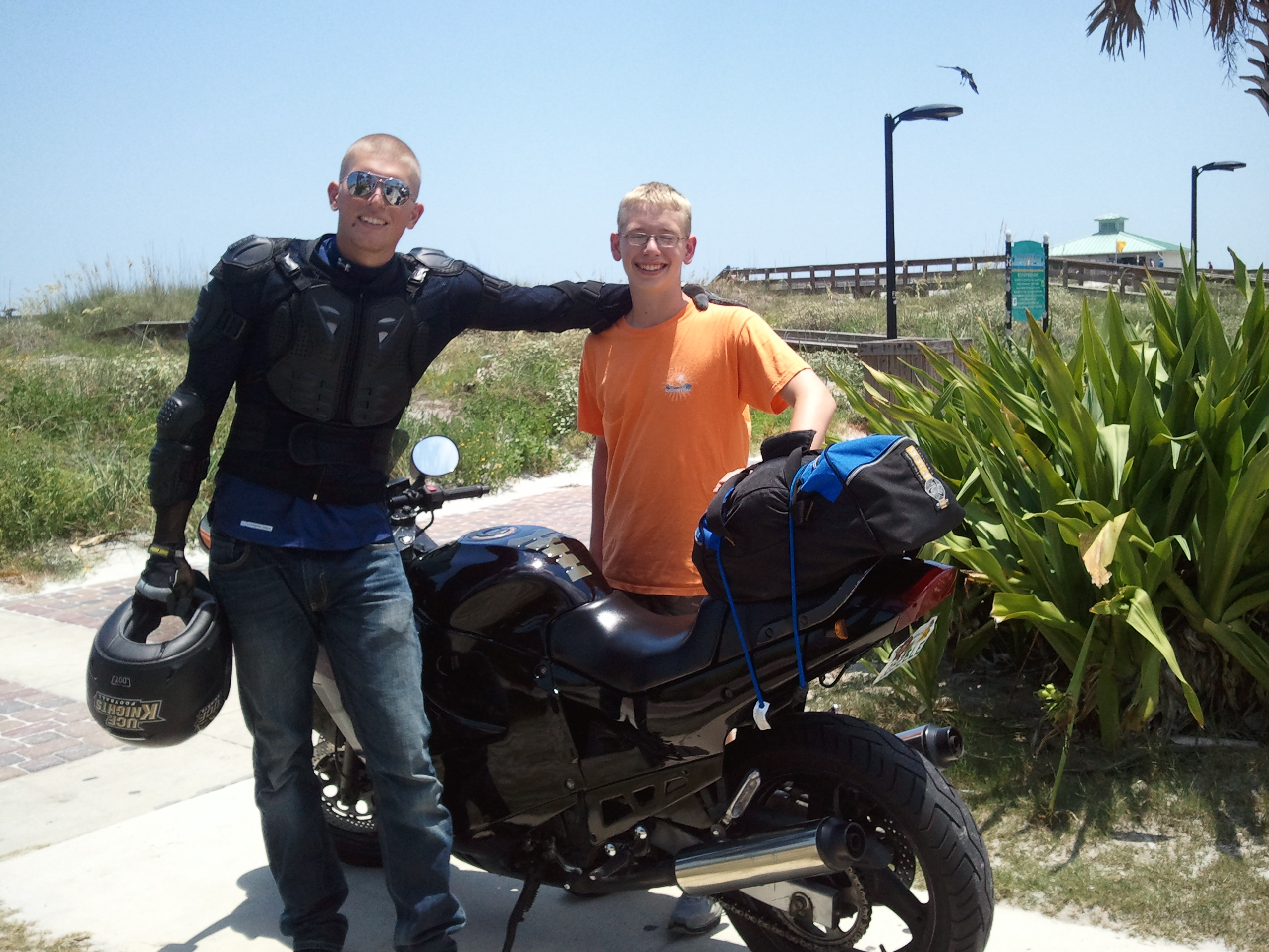 Chris with my oldest son,  Mark in 2011