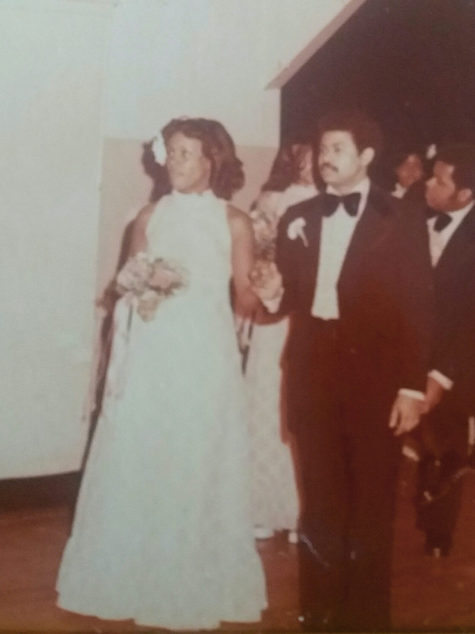 Renee & Cecil in the wedding of his sister Nina Gregory.