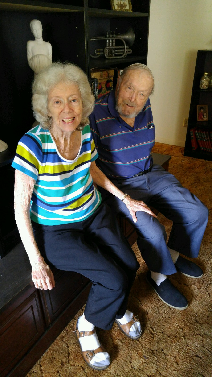 Brent & Cecilia Battersby at Edgewater home in earlu June 2016.